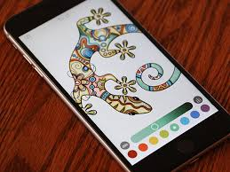 the app features eight coloring tools and supports apple pencil and third party styluses
