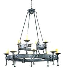 non electric chandelier wrought iron candle chandeliers outdoor bulbs chande