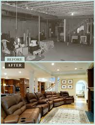 basement remodels before and after. Before \u0026 After Of Basement Renovation With Custom Bar Remodels And E