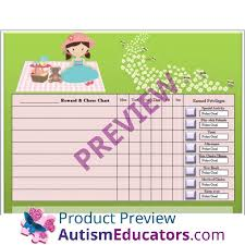 Autism Chore Chart Pretty Teddy Bear Picnic