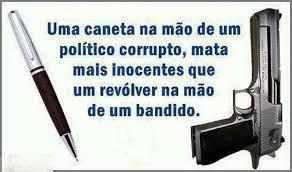 Resultado de imagem para CORRUPÇÃO MATA