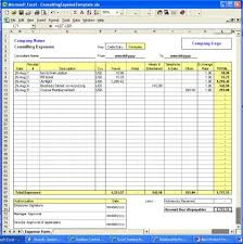 finances excel template consulting expense excel template v1 full screenshot