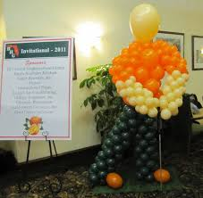 Sports Themed Balloon Decor Party People Event Decorating Company Ben Hill Griffin Golf