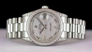 swiss watches rolex mens 36mm platinum day date president rolex mens 36mm platinum day date president meteorite diamond 118296