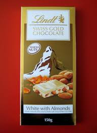 lindt swiss gold white chocolate with almonds