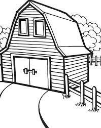 Barn Coloring 9ncm Liberal Red Barn Coloring Page Pages Download And