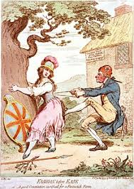 thomas paine  in fashion before ease or a good constitution sacrificed for a fantastick form 1793 james gillray caricatured paine tightening the corset of