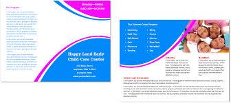 Child Care Brochure Design Child Care Brochure Template 27
