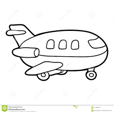 coloring book airplane stock vector ilration of coloration 113260750