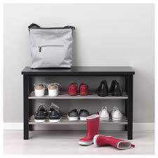 Ikea Shoe Organizer Tjusig Bench With Shoe Storage Black 81x50 Cm Ikea