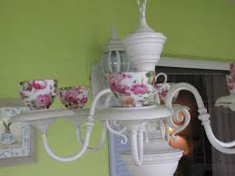 roses teacup chandelier by smiling sally