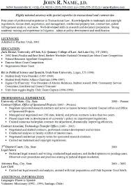 General Resume Template Magnificent Legal Resume Example Attorney Resume Example Real Estate Attorney