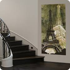 eiffel tower canvas wall art contemporary entry