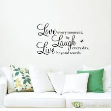 Live Laugh Love Quotes Extraordinary Live Laugh Love Quotes Wall Sticker Decal Decals Wallpaper Beauty