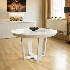 quatropi boston large round extending dining table white oak glass top