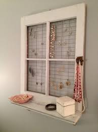 Decorate With Old Windows Vintage Window Frame And Shelf Wall Decor Primitive Windows