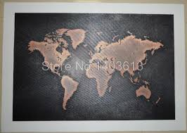 1 pcs set huge black world map paintings print on canvas hd abstract world map canvas painting