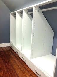 slanted wall closet ideas sloped ceiling closets small walk in shelf bracket shelves ikea s