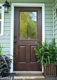 simple and neat black front door with glass for your house decoration design awesome hanging