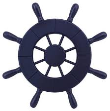 dark blue decorative ship wheel 9 wooden ships wheel boat steering wheel