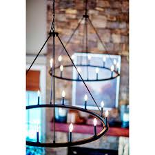 capital lighting 4912bi 000 black iron pearson 12 light 48 wide chandelier lightingdirect com
