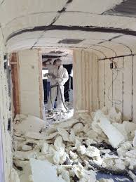 example of spray foam insulation not in a sprinter but you get the idea