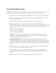 Project Outline Template Microsoft Word Free Collection Of