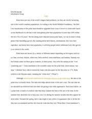 informativeessay erin bernaciak informative essay polar bears  6 pages informative essay
