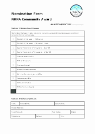 Employee Recognition Form Template Employee Recognition Nomination Form Template Then Employee