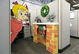 office cubicle christmas decoration. Fine Office Christmas Office Decoration Cubicle Decorations Decorating  Contest Ideas Pictures To Office Cubicle Christmas Decoration C