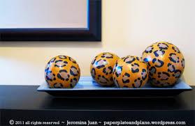 Leopard Decorative Balls leopard décor orbs paper plate and plane 13