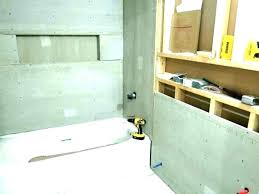 cement board for shower cement backer board over drywall install backer board in shower how to
