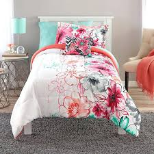 full image for teen girls bedding twin mint green fl comforter set teal c bed in