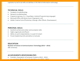 Skills Resume Impressive Personal Skills Resume List Of For Resumes Utmostus