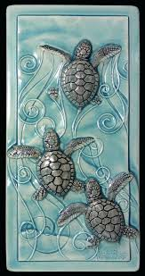 sea turtle wall art home decor tile magic in the water baby turtles large sea turtle wall art