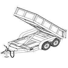 hydraulic dump trailer parts kit 7k axle capacity model 10hd 5 x10 hydraulic dump trailer plans