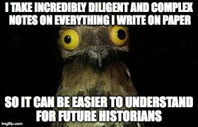 Peculiarly Potoo's Paper - Imgflip via Relatably.com