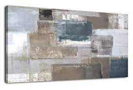 Artwork for office walls Dental Office Large Abstract Wall Art For Living Room Decoration Modern Abstract Brown Gray Blocks Painting Picture Prints Etsy Amazoncom Large Abstract Wall Art For Living Room Decoration