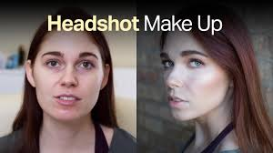 tutorial headshot makeup