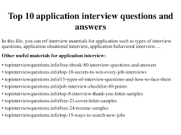 job application questions top 10 application interview questions and answers