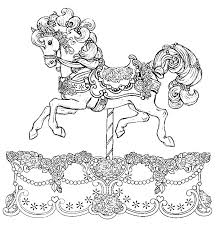 Small Picture Vibrant Design Carousel Coloring Pages Carousel Horse Cecilymae