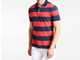 blue red stripe short sleeve polo shirt psm 862 plus size clothing in stan