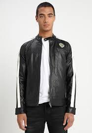 onsnansen jacket faux leather jacket black