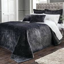 velvet bedding sheets black white by luxury crushed double set