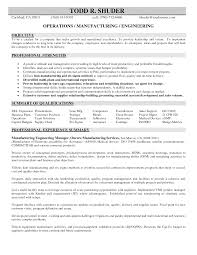 Excellent Manufacturing And Engineering Resume Sample