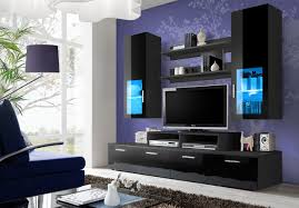 Living Room Entertainment Tv Unit Storage Living Room Modern Wall Units High Gloss