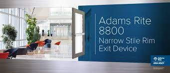 the adams rite 8800 narrow stile rim exit device is designed for narrow stile aluminum s that require a life safety exit device with starwheel