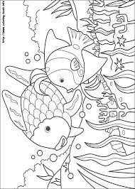 Small Picture Rainbow Fish coloring picture for the kids projects and such