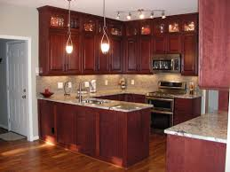 rustic cherry kitchen cabinets. Simple Kitchen Furniture Impressive Solid Kitchen Cabinets 14 E2 80 93 U Shape Decoration  Using Red Rustic Cherry And