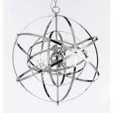 great chrome sphere chandelier gorgeous chrome orb chandelier foucaults orb chrome chandelier